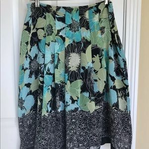 East 5th Womens 10P A-line floral pleated Skirt